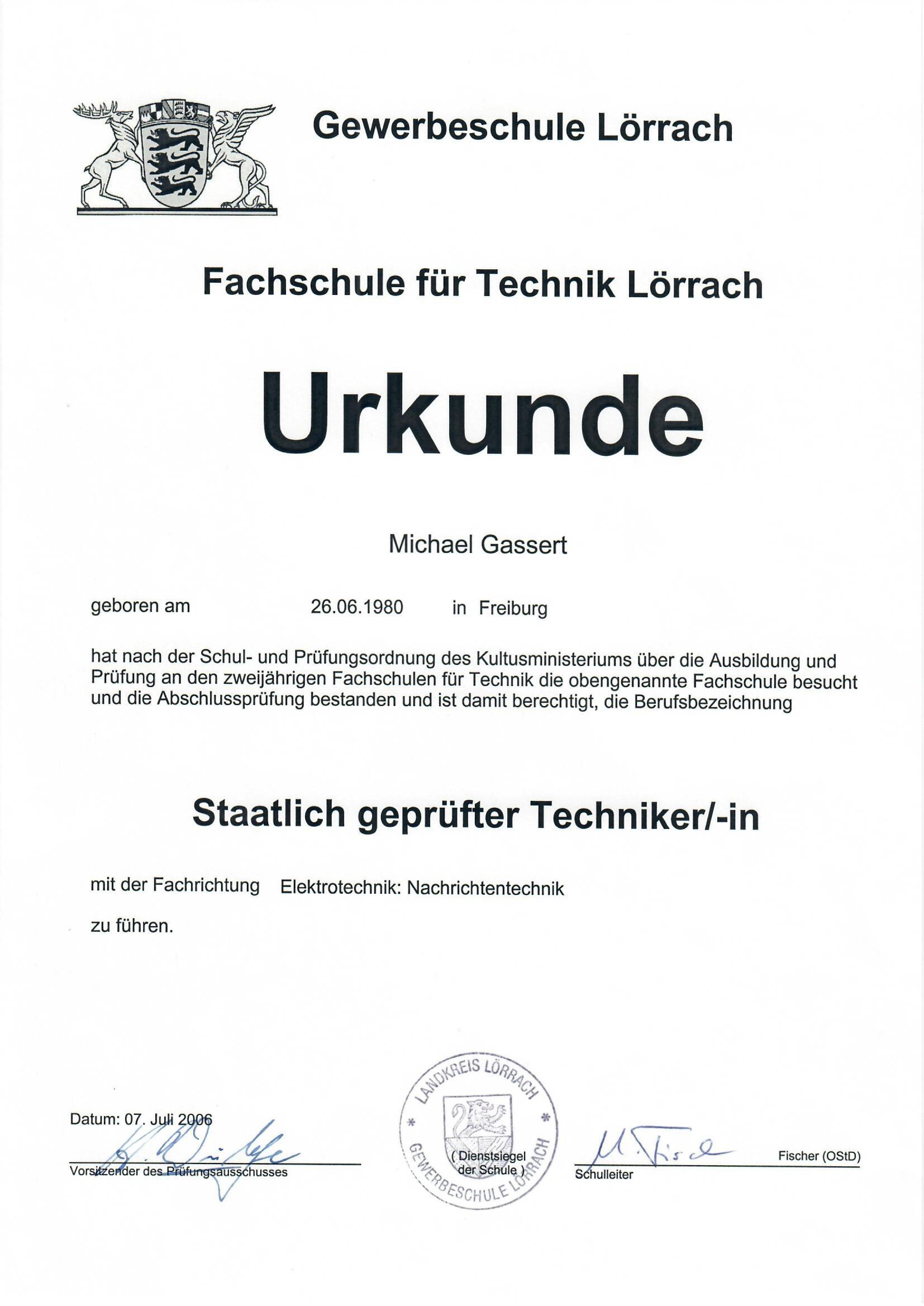 Kamasega Zertifikat gewerbeschule | Kamasega