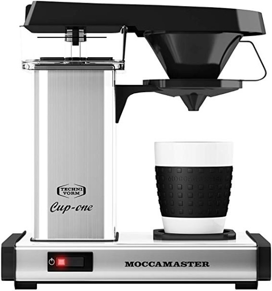Moccamaster Kaffeeautomat Cup one 69220 Polished Silver | Kamasega